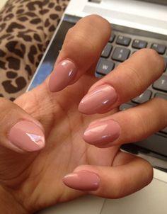 Mauve point/almond nails