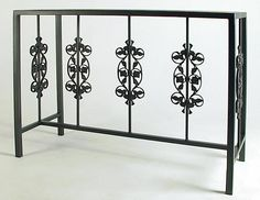 Wrought Iron Console Sofa Table Series