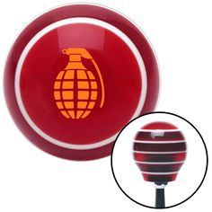 Orange Pineapple Grenade Red Stripe Shift Knob with M16 x 15 Insert - Give your interior the ultimate look. American Shifter's Elite(TM) series shift knobs are made from the highest quality components resulting in a superior feel on every shift. Each shift knob is designed and customized in the USA by skilled shift knob artisans who have a trained eye on every detail. American Shifters shift knobs offers an exclusive aluminum threaded insert designed to be screwed onto your shift arm. You…
