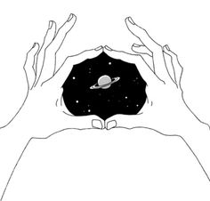 The hands holding the Galaxy
