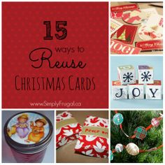 Here are 15 ways to reuse all those Christmas cards you be receiving this year!