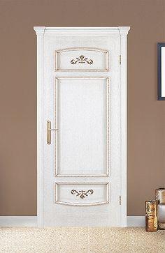 Межкомнатная дверь «Верона». Отделка «белая патина золото» #дверирулес #двери #межкомнатные #дизайн