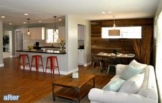 Reclaimed wood wall treatment from Rafterhouse on betterafter.net
