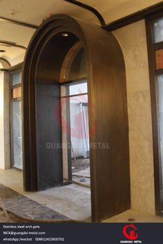 stainless steel arch gate (GD metal/stainless steel fabrication,stianless steel decorative panel in various color for elevator,door,gate,handmade stainless steel work,mesh stainless steel decorative cover,stainless steel partition ,divider.   stainless steel furniture.   stainless steel handrail/stair railing)