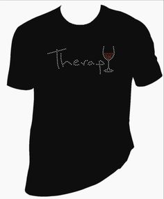 Therapy Rhinestone Shirt by BlingSt on Etsy, $15.00