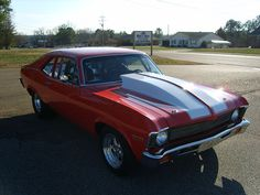 My first car was a gold 1972 Nova without this large hood.