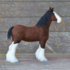 Felted Clydesdale by Teresa Perleberg