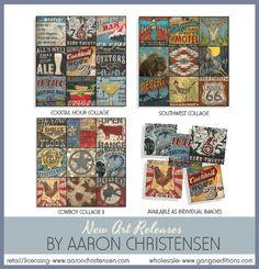 Cocktail, alcohol, southwest, southwestern, cowboy, western, wall art, prints, licensing, Aaron Christensen