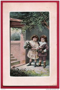 Cartes Postales > Thèmes > Enfants > Dessins d'enfants - Delcampe.be