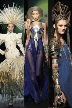 Jean Paul Gaultier, the enfant terrible of French fashion, took his inspiration from James Cameron's blockbuster film Avatar.