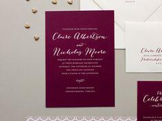 Vintage Wedding Invitation, wine wedding invites and really lovely #Weddings #WeddingInvitations