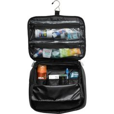 Don't leave home without it.  Organize toiletries, shave accessories, and other items in this multi-pocket toiletry kit, that easily folds to fit inside luggage, or inside a pocket of Wally garment bags for extra storage and organization.