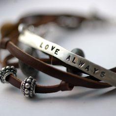 fabulous, personalized layered bracelet by studio jewel