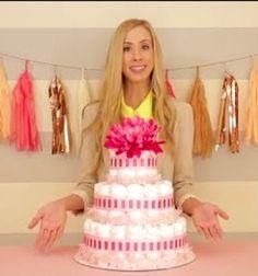 How to make a diaper cake (nappy cake) - baby shower gift // Pelenkatorta készítése lépésről-lépésre ( babaváró ajándék ) // Mindy - craft tutorial collection