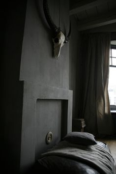 I really dig this matte look; another idea for the den? Monique Meij-Beekman's home by Jan Luijk
