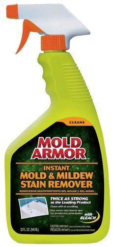 Mold Armor FG502 Instant Mold and Mildew Stain Remover, 32-Ounce by Mold Armor. $8.54. From the Manufacturer      Now there is a fast, easy, affordable and safe solution to fighting mold problems. Mold Armor is the proven effective product line dedicated solely to finding, cleaning and preventing mold and mildew stains on the inside and outside of your home. Protect, renew and restore your home's beauty with Mold Armor. Mold Blockers prevent mold and mildew from growing for u...