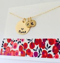 Grandma Necklace, 14k Gold Filled Grandma Necklace, Gigi Necklace, Personalized Grandma Necklace