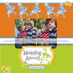 Monkeying Around - Monkey Business Digital Addition Scrapbooking Layout
