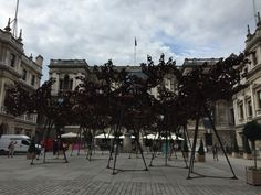 "Conrad Shawcross ""steel clouds"" at the Royal Academy Summer Show, August 2015, Photo: Tanja Siems"