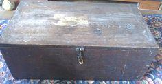 WW1 RAF WOODEN LUGGAGE TRUNK FOOT LOCKER? UNIFORM LOCKER? OAK? 2 HANDLES & LOCK   eBay