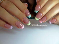 Manicure Nail Designs, Nail Manicure, Nail Polish, French Nails, Cute Nails, My Nails, Christmas Manicure, Pastel Nails, Nail Decorations