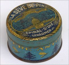 The Vintage Wall - Pere Antoine French honey tin, early 1900s