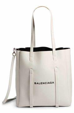 Balenciaga Extra Small Everyday Calfskin Tote - White Source by nordstrom tote bags Balenciaga Bag, Balenciaga Handbags, Leather Handbags, Tote Handbags, Leather Totes, Leather Purses, Fashion Handbags, Fashion Bags, White Tote Bag