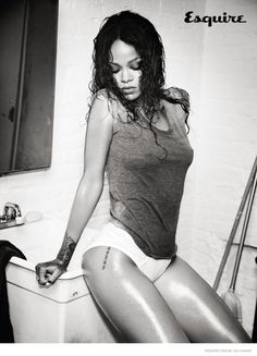 Rihanna Gets Wet & Naked for Esquire UK December 2014 Cover Shoot This photo shoot
