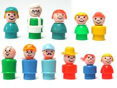 down to the cellar: Fisher Price Little People