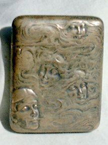 Rare Art Nouveau Sterling Silver Match Safe by Cindyloustreasures, $155.00
