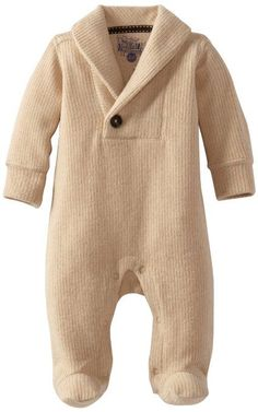 cool Kapital K Baby-Boys Newborn Corduroy Fleece Shawl Collar Coverall, Gingerbread, ...