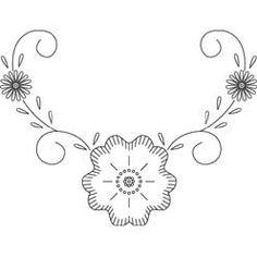 Pattern Detail | Floral Corner Design | Needlecrafter