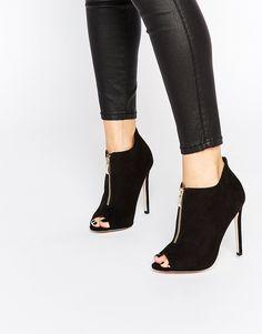 e2152e1664c2 New Look Teaser Caged Gladiator Black Heeled Sandals