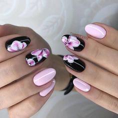 Acrylic Nail Art For More Beautiful Nails Stylish Nails, Trendy Nails, Cute Nails, My Nails, Creative Nail Designs, Creative Nails, Nail Art Designs, Floral Nail Art, Acrylic Nail Art