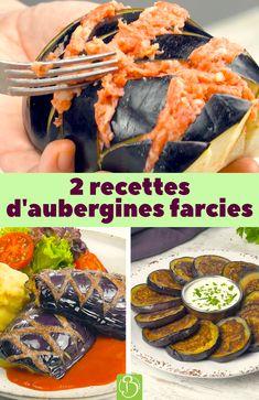 Vous cherchez des recettes à base d'aubergines ? En voici 2 délicieuses ! Aubergines en tranches farcies ou avec un motif en losange : un choix savoureux ! #recette #aubergine #farcies #bonap #viande #hachée #sauce