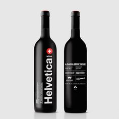 Beloved Typeface Helvetica Now Available In The Form Of A 'Sans-Serif Wine' - DesignTAXI.com