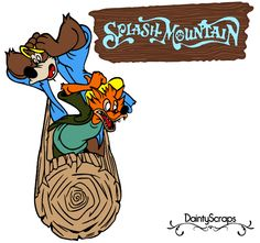 Disney Rides Splash Mountain SVG DaintyScraps.com