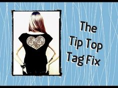 Tip Top Tag Fix: a diy cut out shirt how-to Guy Shirts, Project Yourself, Top Tags, Diys, Youtube, Bricolage, Diy, Do It Yourself, Youtubers