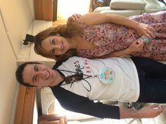 Backstage with giada de laurentiis before going on stage!