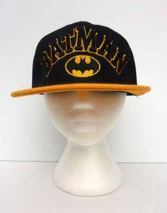 8fed12b18b9 Gold Dark Knight Batman Cap Hat Baseball Cap Snapback Wool Unisex Black  NWOT Baseball Hats