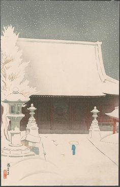Raizan Negoro (1877-?), Asakusadera, Tokyo, 1922.