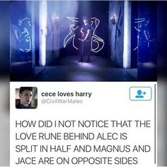 #shadowhunters #opening #credits #Alec #love #rune #split #between #Jace #Magnus