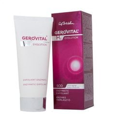GEROVITAL H3 EVOLUTION, Enzymatic Exfoliant with Superoxide Dismutase (The Anti-Aging Super-Enzyme) 30+ by GEROVITAL H3 EVOLUTION. $39.95. Genuine Gerovital.. The cream restores the youthful appearance, brightness and luminosity of skin by a gentle, yet efficient peeling.. The Superoxide Dismutase together with Boswellia Serrata, Vitamins A and E regenerate, protect, calm the sensitive skin and remove the destructive effects of free radicals.. BENEFITS: Fresh, smooth...