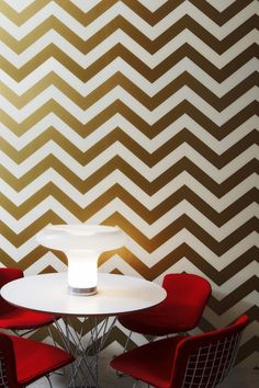 Zee Self Adhesive Wallpaper in Gold design by Tempaper