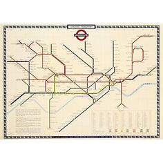 Cavallini London Underground Map Wrapping Paper - Paper Source
