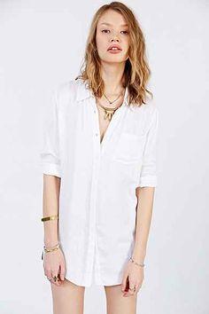 BDG Double Cloth Button-Down Shirt