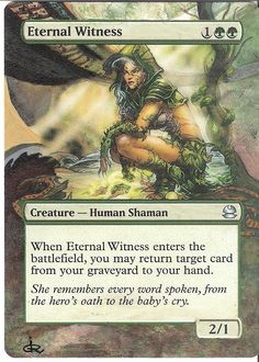 MTG Altered card Eternal Witness hand painted by artist jR…