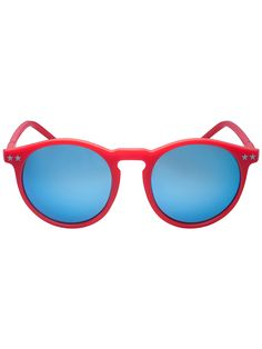 Red Star Detail Mirror Lens Round Sunglasses | Choies