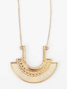 Altar'd State Aztec Crescent Necklace