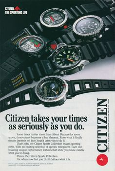 Citizen Promaster Adverts - Seiko & Citizen Watch Forum – Japanese Watch Reviews, Discussion & Trading